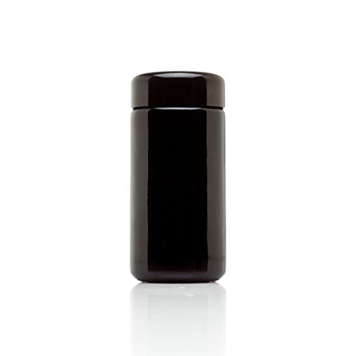 Infinity Jars 100 ml (3.3 fl oz) Tall Black Ultraviolet Refillable Empty Glass Screw Top Jar