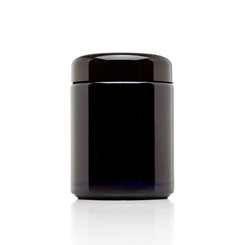 Infinity Jars 250 ml (8.5 fl oz) Tall Black Ultraviolet Refillable Empty Glass Screw Top Jar