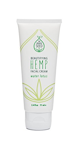 The Wonder Seed Hemp Seed Oil Face Cream- All Natural Organic Formula w/ Vitamin C & Green Tea- 100% Toxin Free- Non Greasy Daily Moisturizer for Smooth, Supple & Radiant Skin (Water Lotus)
