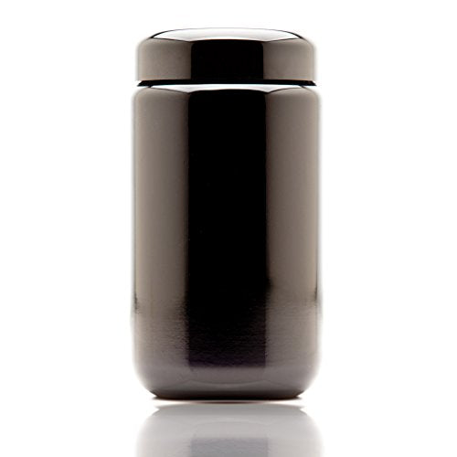 Infinity Jars 400 ml (13.53 fl oz) Black Ultraviolet Refillable Empty Glass Screw Top Jar