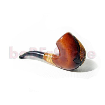 "NEW Tobacco Smoking Pipe ""TRIDENT"" Pear Root Wood Pipe, Hand Carved + POUCH GIFT !"