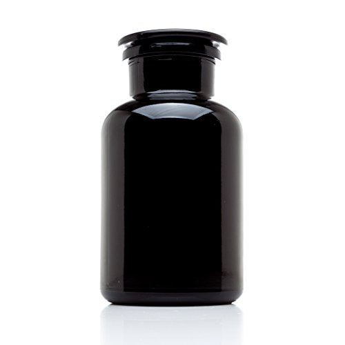 Infinity Jars 250 ml (8.5 fl oz) Black Ultraviolet All Glass Refillable Empty Apothecary Jar