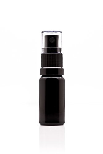 Infinity Jars 100 Ml (3.4 fl oz) Black Ultraviolet Glass Fine Mist Spray Bottle