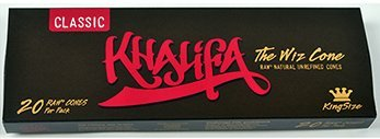 Wiz Khalifa RAW Classic Natural Unrefined Pre-rolled Cones - King Size 110mm (20 per Pack)