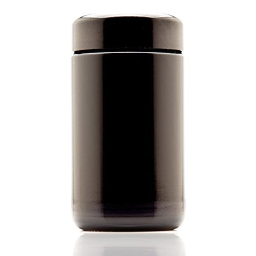 Infinity Jars 150 ml (5.07 fl oz) Tall Black Ultraviolet Refillable Empty Glass Screw Top Jar