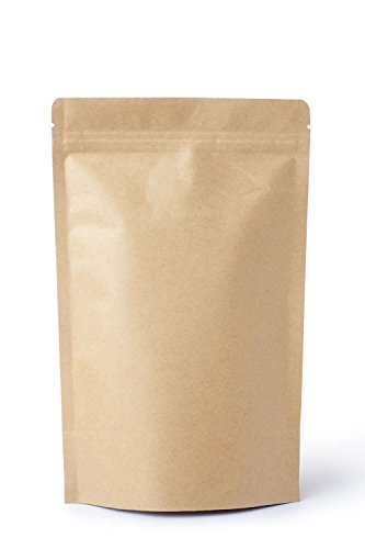 Kraft Stand Up Food Pouch - Store Herbs, Tea, Stash, Dried Food, Trail Mix, Nuts, and more in these FDA approved Food pouches