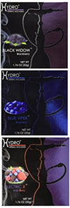 "Texas Hookah 3 x 50 g Hydro Herbal Berry Mix-Hookah ""Tobacco Free"" Shisha's - Blackberry, Blueberry and Wild Berry (Free 10 Zebra Coals)"