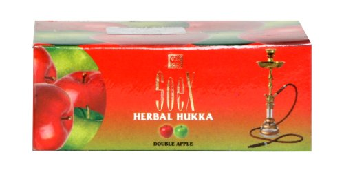 50 Gram Double Apple Soex Herbal Hookah Shisha Molasses Tobacco Free