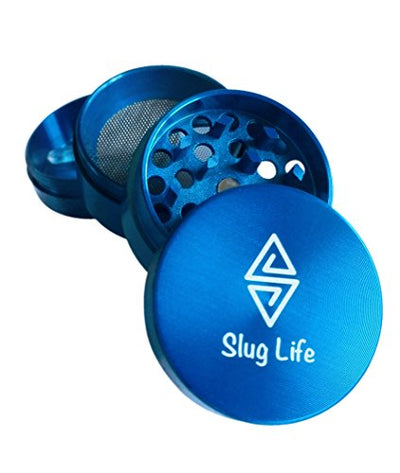 Slug Life Herb Grinder 4 Parts 1.6 Inch with Pollen Catcher