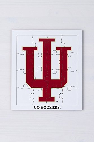 Indiana University Hoosier- Kids Wooden Puzzle, Wood Puzzle for Kids - Indiana Trident 16 piece Jigsaw Puzzle