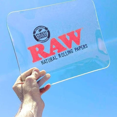 RAW Limited Edition Glass Rolling Tray (Large)