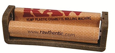 Bundle - 9 Items - Raw Unbleached Classic 1 1/4 Size Cigarette Rolling Papers (4 Packs), RAW Pre-Rolled Tips (3 Packs), RAW 79mm Cigarette Roller and Rolling Paper Depot Doob Tube