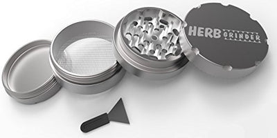 Herb Grinder Original 2.5 inch 4-Piece Aerospace Aluminum Grinder for Herbs