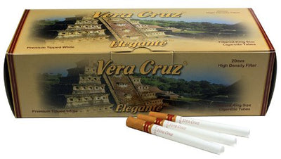 Vera Cruz Elegante King Size Cigarette Tubes (200ct per box - 5 Boxes)
