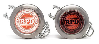 RPD Daytime and Nighttime Herbal Glass Stash Jars with 6 Strain Labels