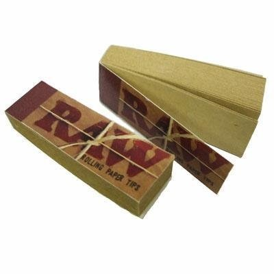 Raw Rolling Papers Filter Tips Standard Size Vegan 10 Booklets x 50 = 500 Filter Tips