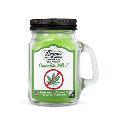 4oz Cannabis Killer (Removes Weed Smell) Scented Beamer Candle Co. Ultra Premium Jar Candle. 30 Hr Burn Time. USA Made ...
