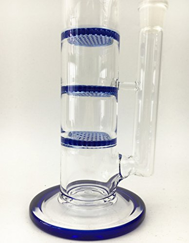 Sunbowl&TR@ Glass Three Blue Layer With Glass Slide Bowl