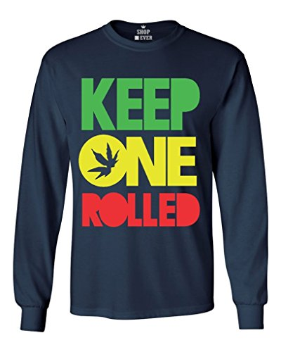 Shop4Ever® Keep One Rolled Long Sleeve Shirt Weed Stoner Shirts