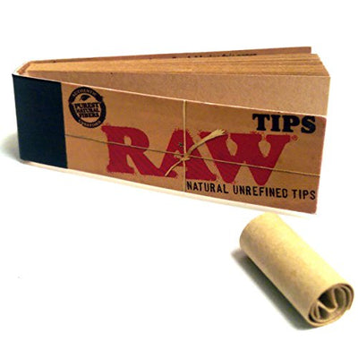 Bundle - 7 Items - RAW Rolling Paper, Tips, Roller with Grinder, Storage Container and More
