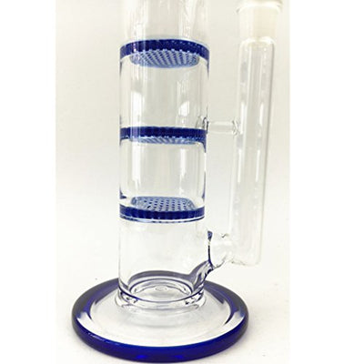 Sunbowl&TR@ Glass Pipe With Blue Layer Glass Water Pipe