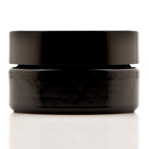 Infinity Jars 30 Ml (1 fl oz) Cosmetic Style Black Ultraviolet Glass Screw Top Jar