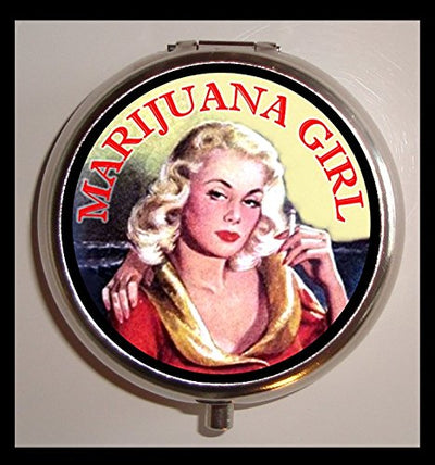 Marijuana Girl Dope Stash Bok Pill Box Pill Case