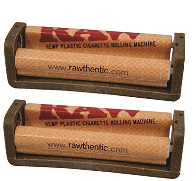 Raw Natural Rolling Papers Hemp Plastic Cigarette Rolling Machine, Multiple Sizes (2 Pack)