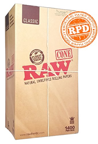 RAW Pre-Rolled Cone 1400 Pack (King Size) with RPD Sticker
