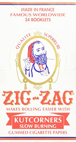 Zig Zag White Cut Corners Cigarette Rolling Papers (24 Booklets Retailers Box)