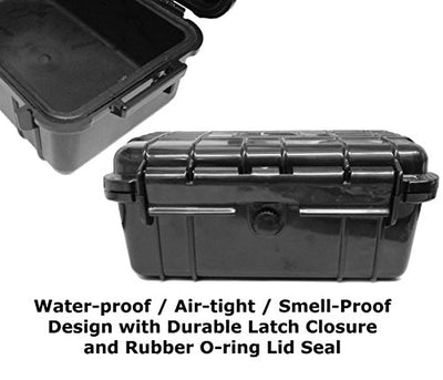 "SMOKESAFE Medium Smell Proof Case 7.5"" Odor Resistant Travel Storage Stash Box Container - Fits Mini Pipes , Pax 2 , Grinder , Herb Containers and More Accessories"