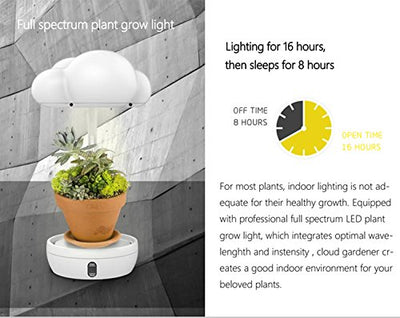 INMAKER LED Grow Lights for Indoor Plants, Plant Light with Timer and Auto Watering Mode, Intelligent Desk Plant Grow Lamp