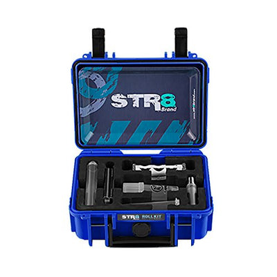 STR8 Brand - Smoking Roll Kit, Watertight, Smellproof, Lock, Perfect Gift, Travel Case, Clipper Lighter, Rolling Tray, Grinder Medtainer, Jtubes, Cones, Roller, Tips - STR8Brand