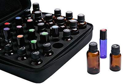 Stained And Finished Essential Oil Box, Holds 25 Bottles (Sizes 5-15ml) W/ 192 Labels...