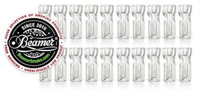 U Pick Quantity! Beamer Smoke Glass Flat Tip Reusable Crutch / Filter Tips 1 - 200 Units! USA Handmade with Grade A Glass! Works with Blunts, Cigarettes, Tobacco, Cigars, Rolling Paper, Cigarillos, Pipe Tobacco and More! + Beamer Smoke Limited Editi