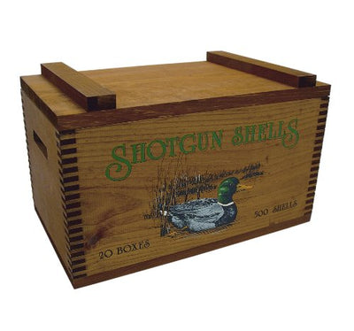 Evans Sports Large Wooden Box - Ducks Print