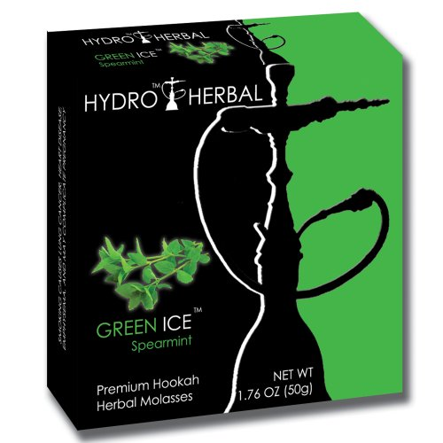 Hydro Herbal 50g Spearmint Hookah Shisha Tobacco Free Molasses