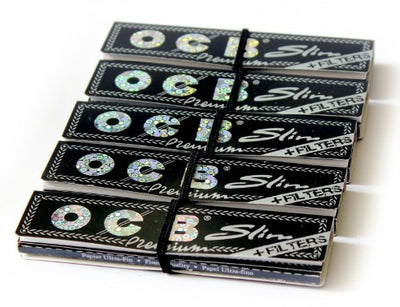 OCB Premium Slim Rolling Paper King Size With Filter Tips 5 booklets