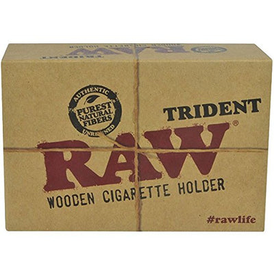 #SA1023 Raw Trident Triple Barrel e869h8z0 Cig Holder au0pryo95b5 gherwq nheam ayuer23a The RAW Trident Triple Barrel is a wooden cigarette holder holding Three, that's