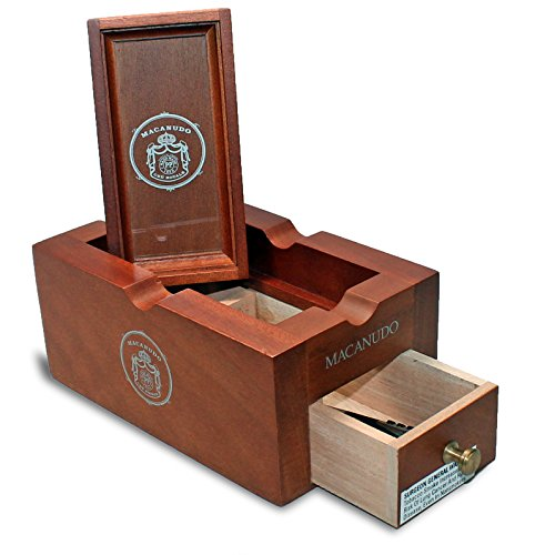 Macanudo Wooden Stash Box Ashtray