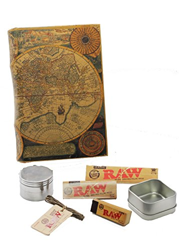 Leather Atlas Book Box Bundle - RAW Accessory Bundle ,Stash Box, Storage Box
