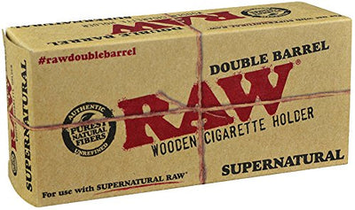 Raw ® Double Barrel Wooden Cig Holder for Supernatural Cones
