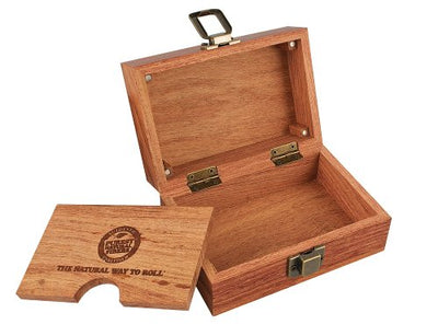 "Raw Rolling Wood Box Magnetically Sealed  3.4"" x 5"" Inches"