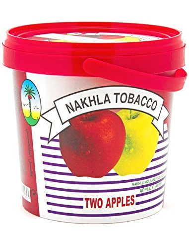 1kg. Nakhla Shisha Molasses - Non Tobacco Two Apple Flavour Hookah Water Pipe