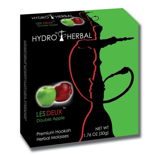 Hydro Herbal 50g Double Apple Hookah Shisha Tobacco Free Molasses
