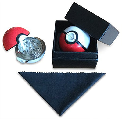 Top Rated World Class Pokémon Pokeball Herb Grinder FREE CLEAN CLOTH and GIFT BOX !!