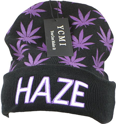 YCMI Winter Warm Mickey Hands Letter Kush Weed Marijuana Beanies Hat Skully