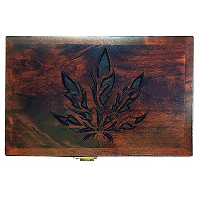 Paraphernalia Storage Box with Combination Lock Leaf