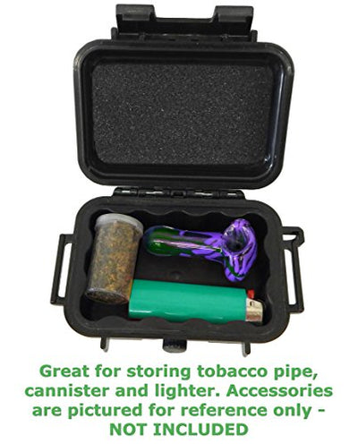"SMOKESAFE Mini Smell Proof 5"" Odor Resistant Case Works as Mini Hookah Pipe Travel Storage Stash Container or Dry Box - Carry and Keep Your Lighter Dry , Herbs and More"