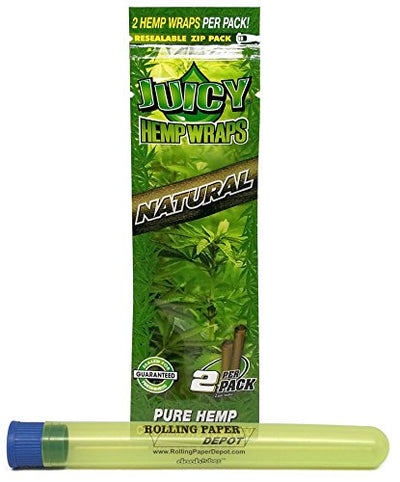 Juicy Natural Pure Hemp Wraps with Rolling Paper Depot XL Doobtube